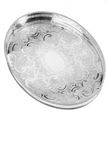 Arthur Price 15 1/4 oval mounted gallery tray