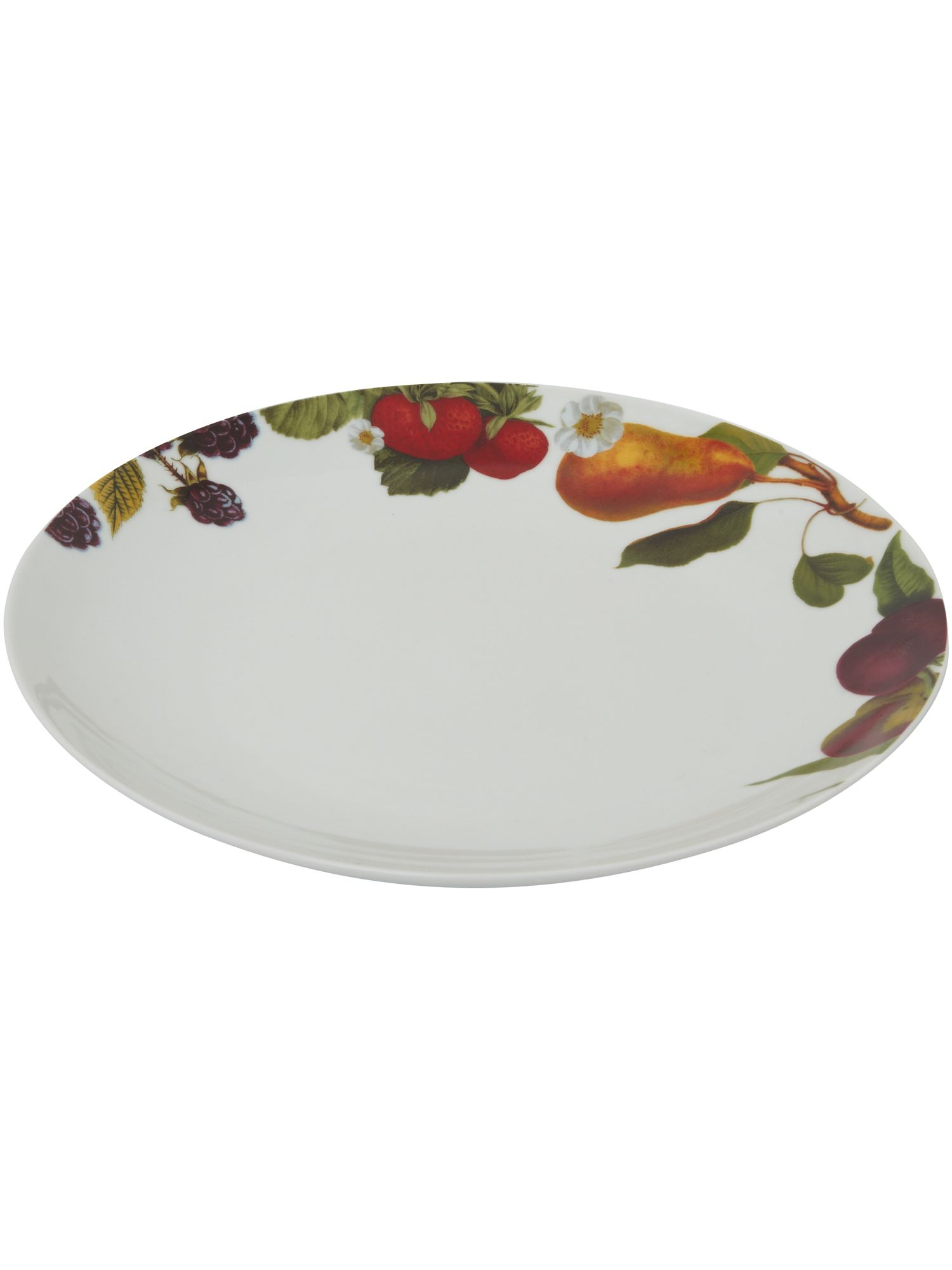 Botanical fruits dinner plate