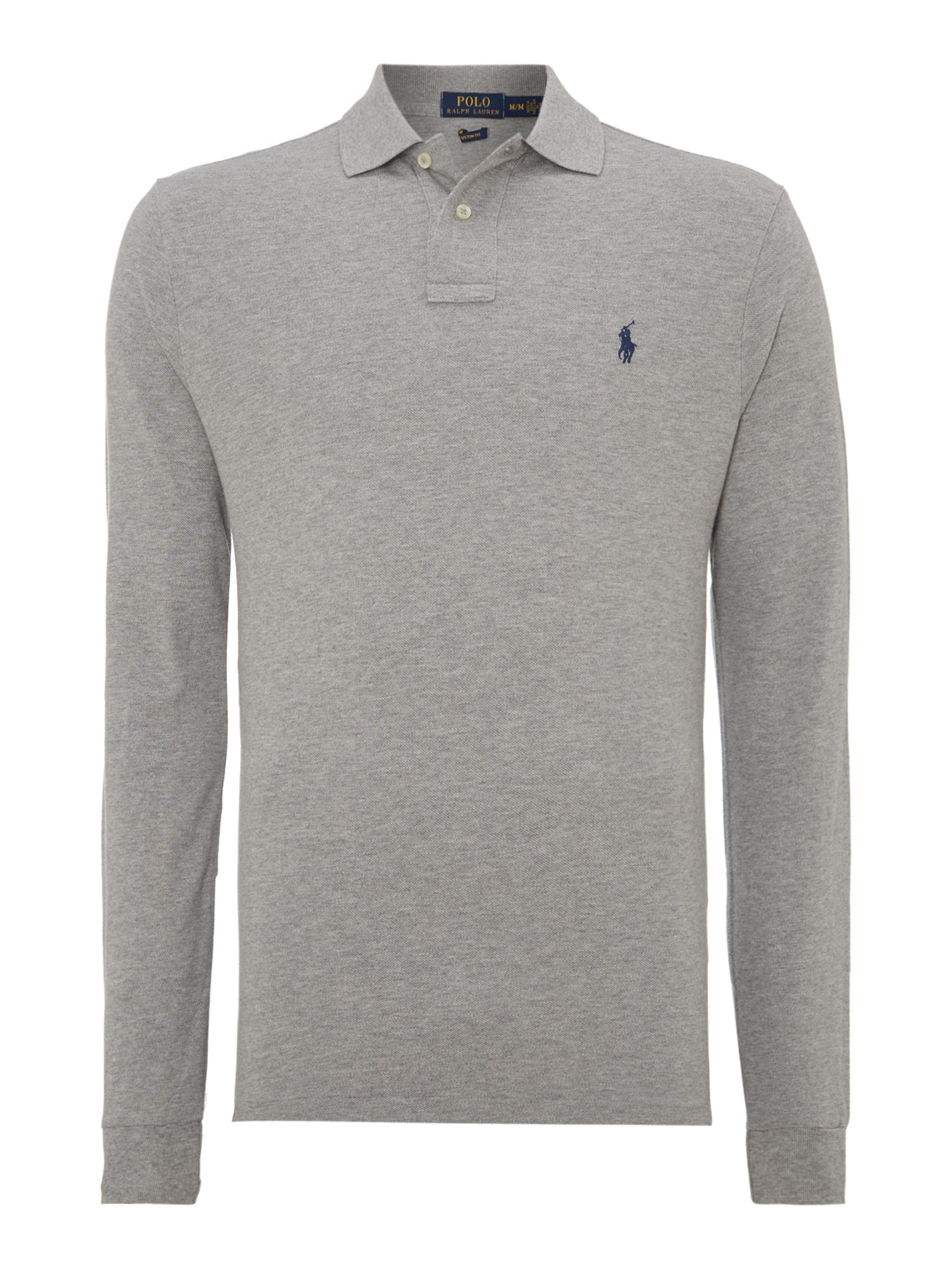 Polo Ralph Lauren Custom-fit long-sleeve polo shirt ...