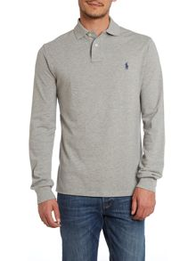 Long-sleeved custom fit polo shirt