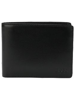 Hugo Boss Leather trifold wallet with coin pocket