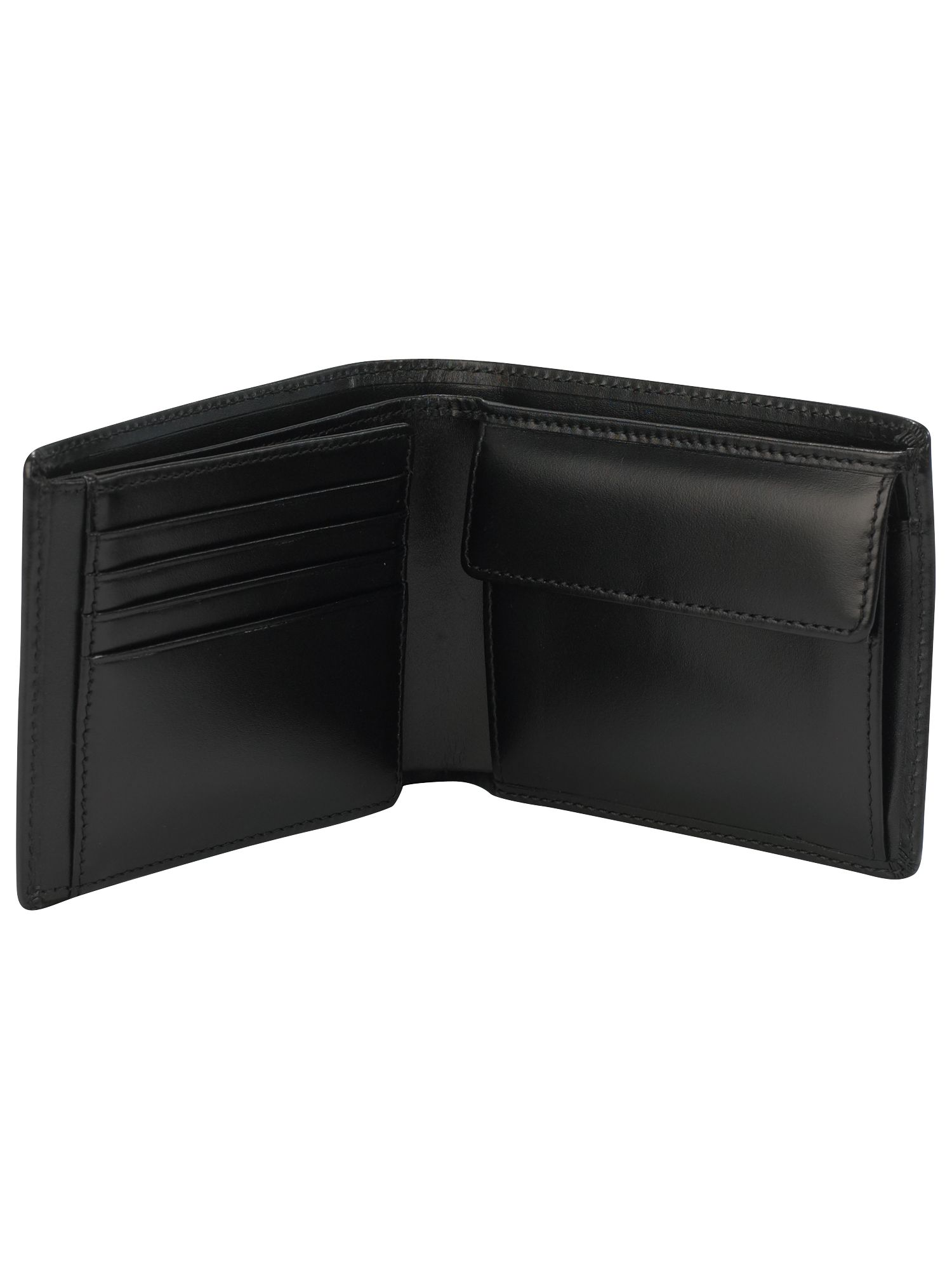 Leather trifold wallet with coin pocket