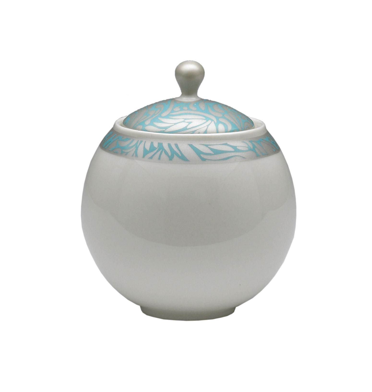Monsoon Lucille teal covered sugar bowl