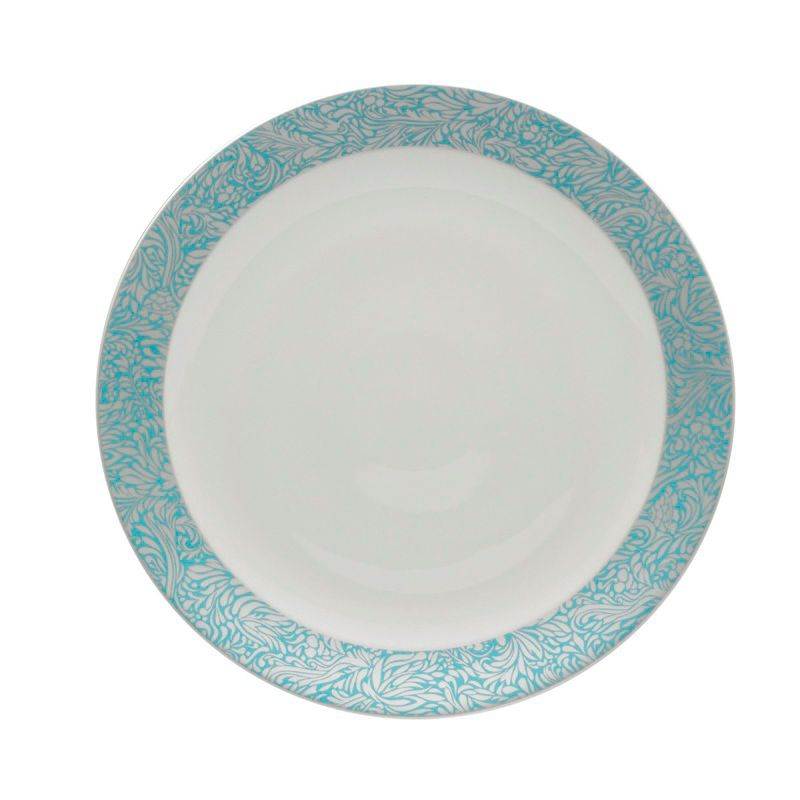 Monsoon Lucille teal round platter