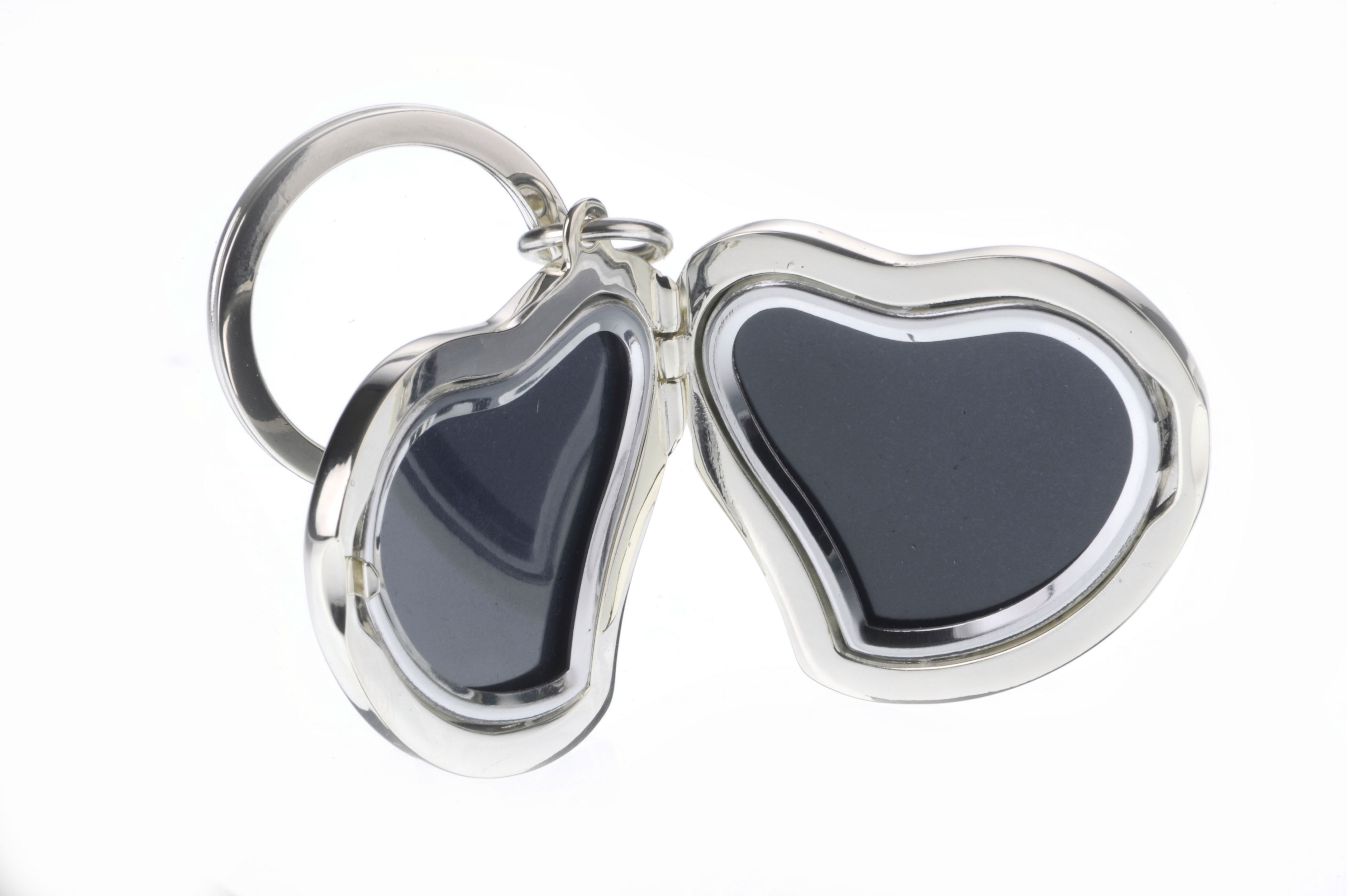 Heart shaped photograph keyring for 2 photos