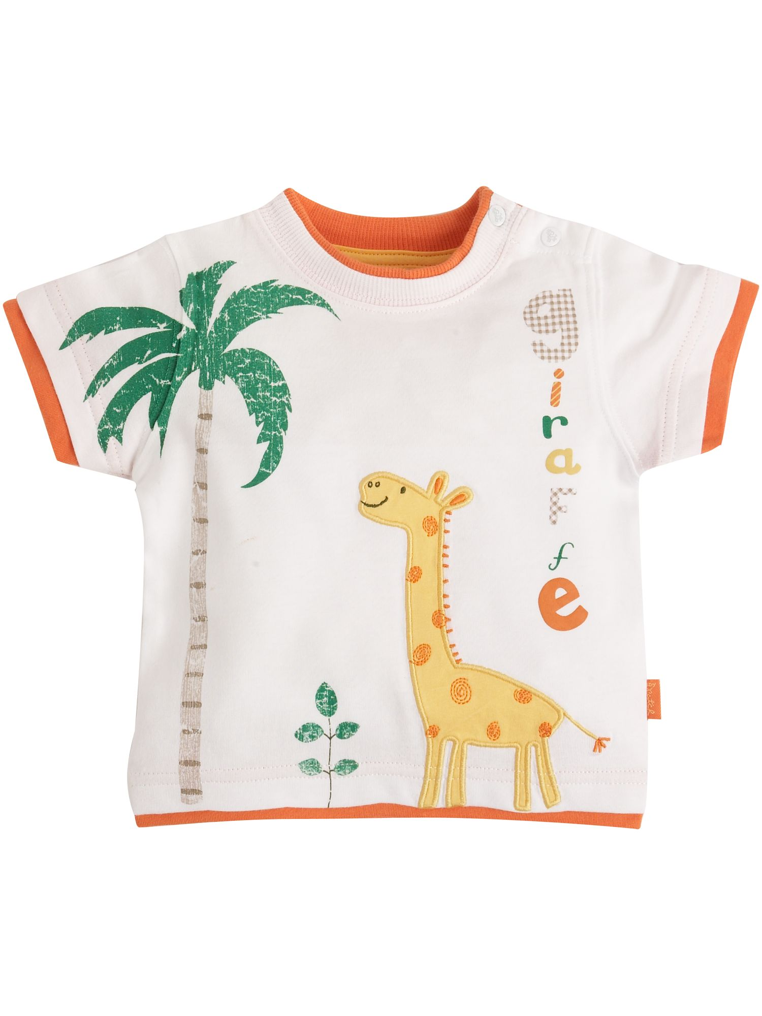 Pumpkin Patch T-shirt with giraffe applique product image