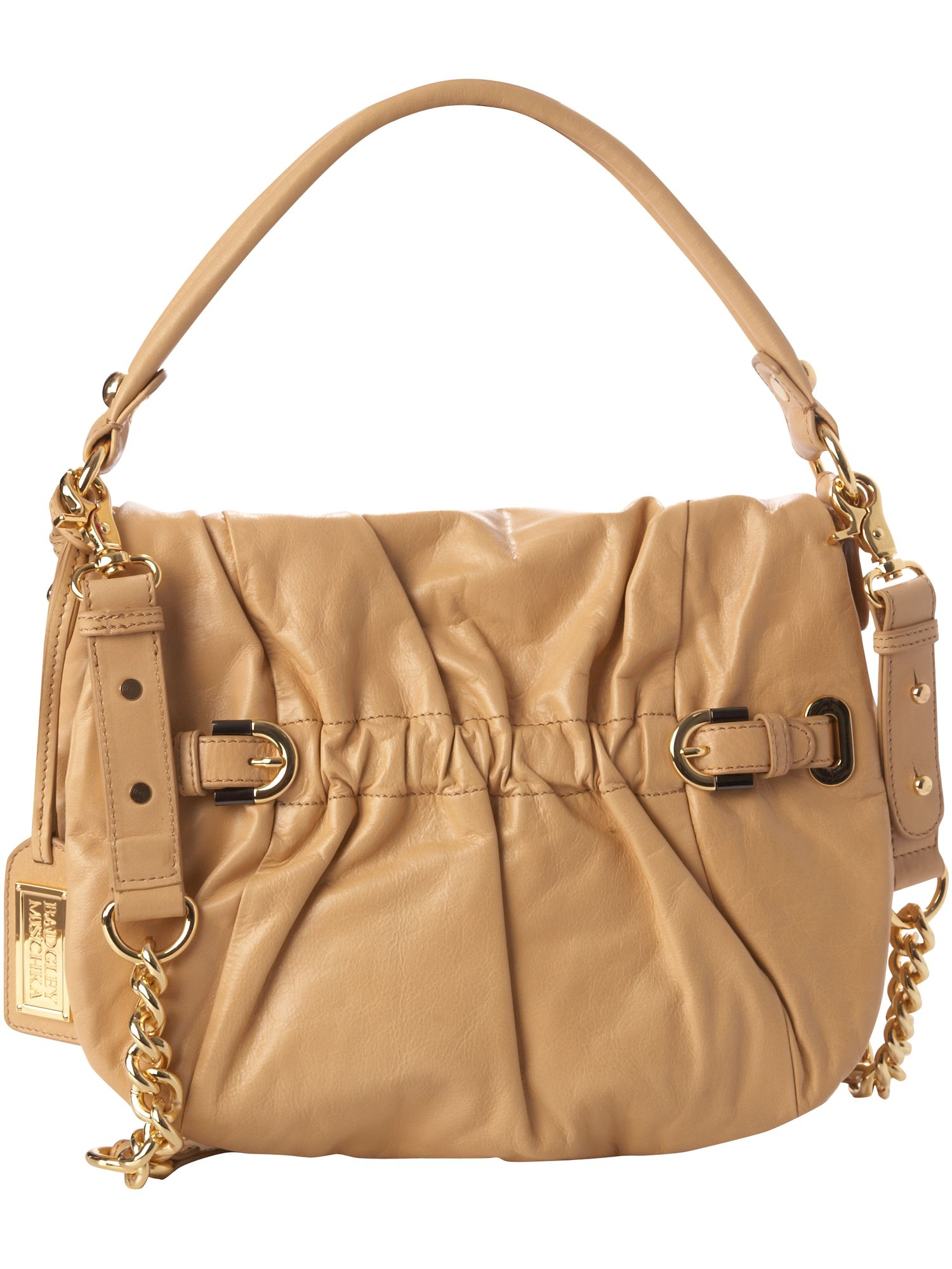Arlette leather flapover bag.