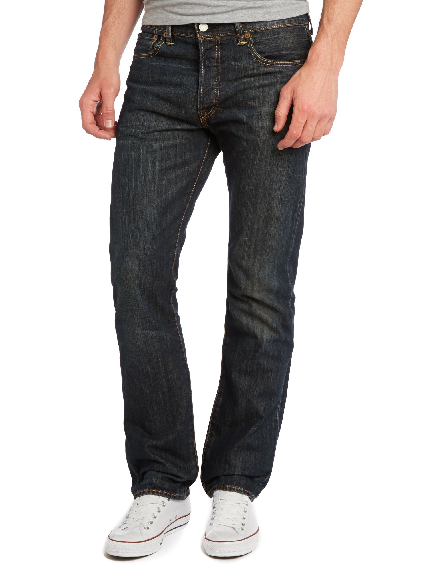 501 Dusty Black Straight Jeans