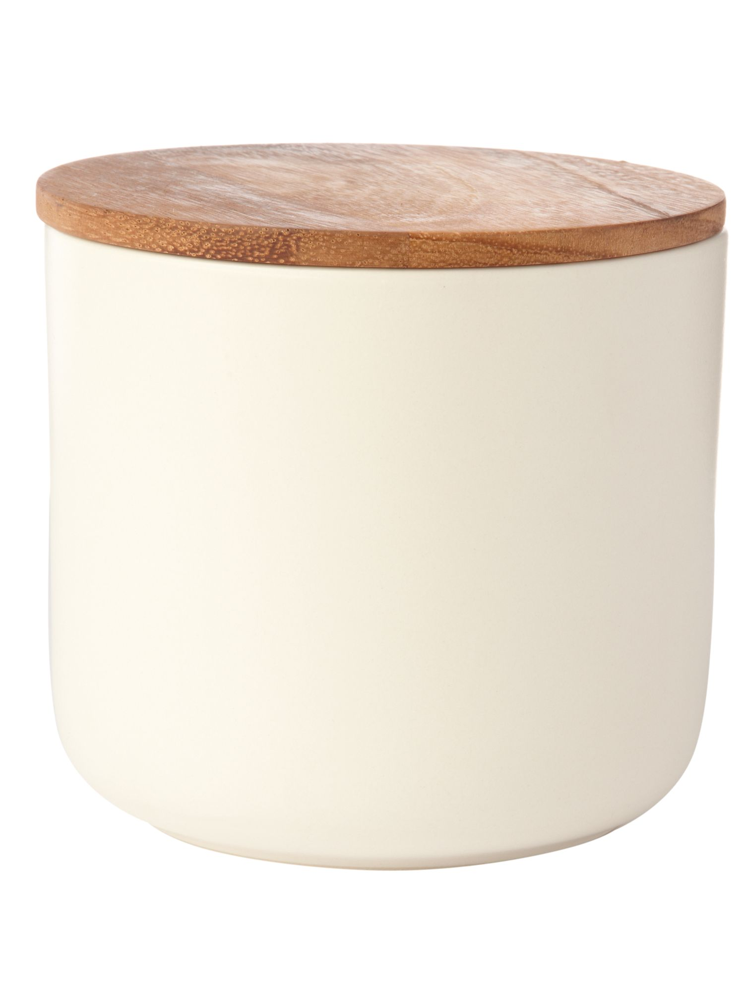Linea Daley cream storage jar with acacia Lid product image