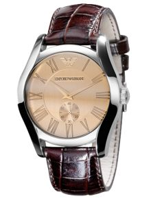 AR0645 Classic Brown Leather Mens Watch