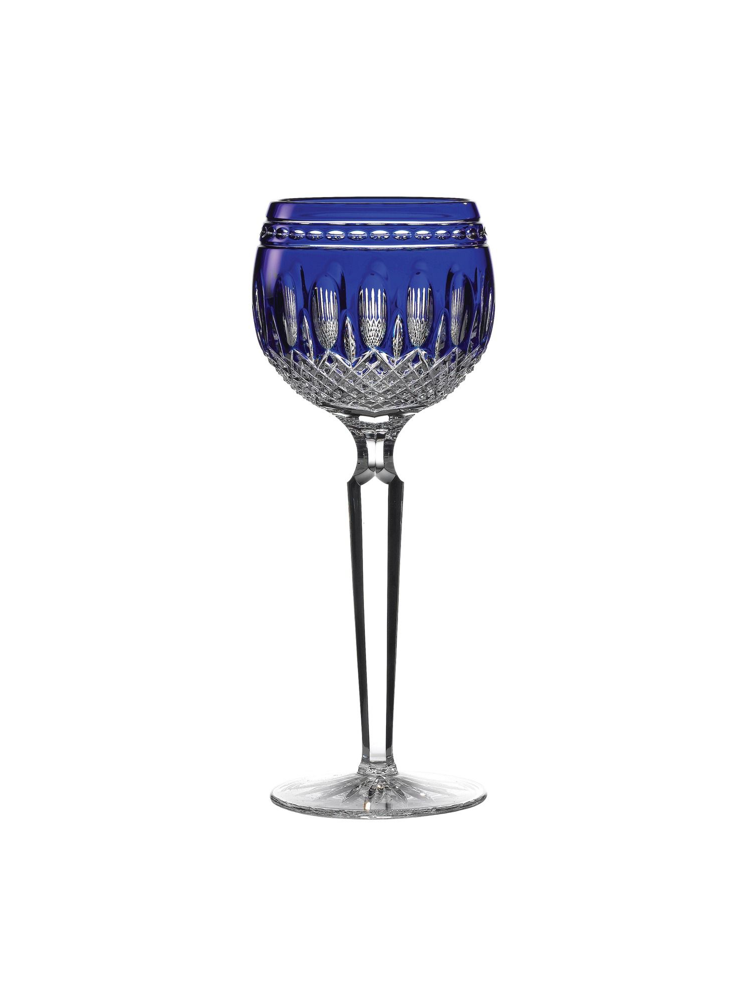Waterford Clarendon cobalt hock glass set of 2