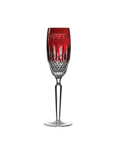 Waterford Clarendon ruby flute, set of 2