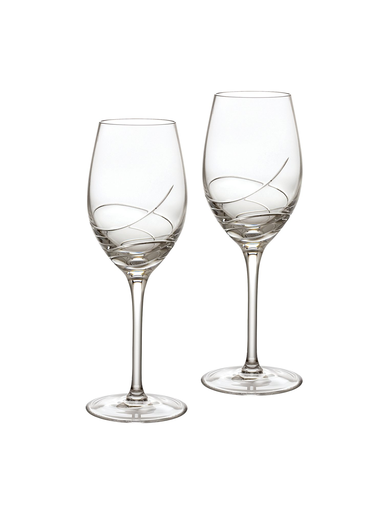 Ballet ribbon white wine glass, set of 2