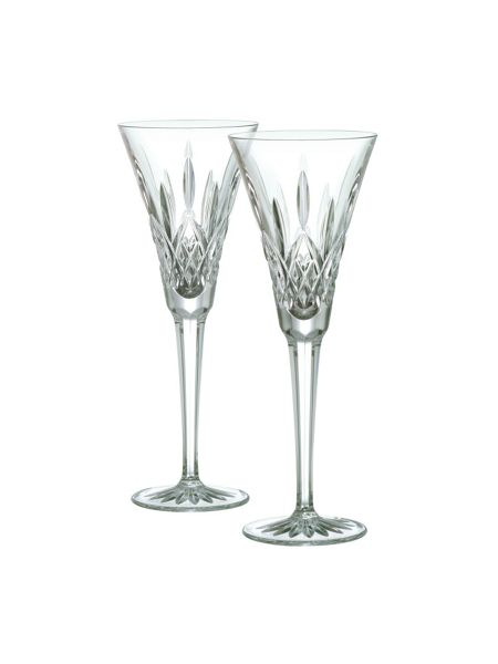 Waterford Lismore toasting flute, set of 2