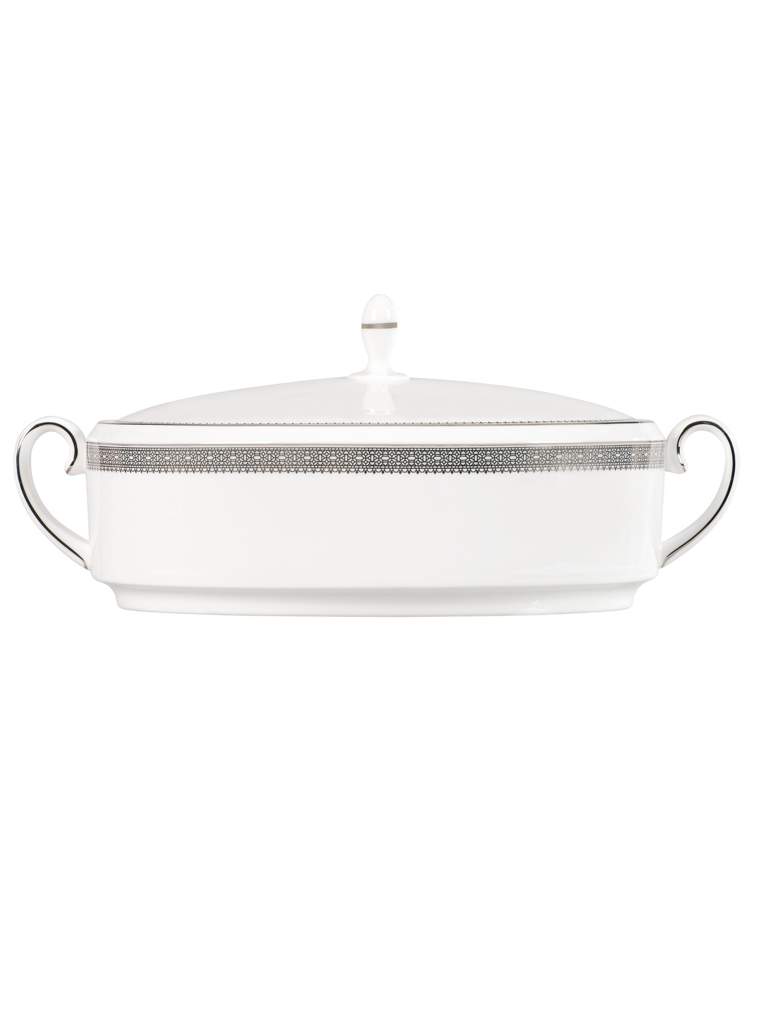 Lace platinum covered vegetable dish