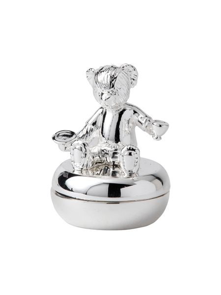 Wedgwood Christening bear silver collection tooth box