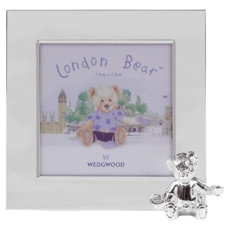 Wedgwood London bear silver photo frame 8x8 cm