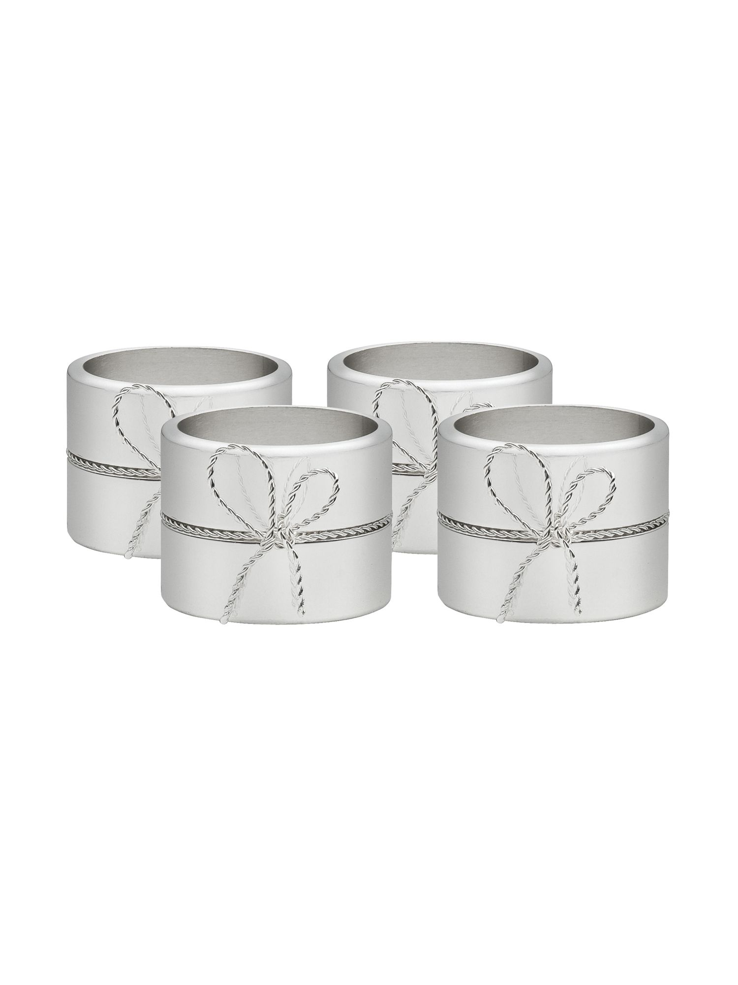 Love knots napkin rings, set of 4