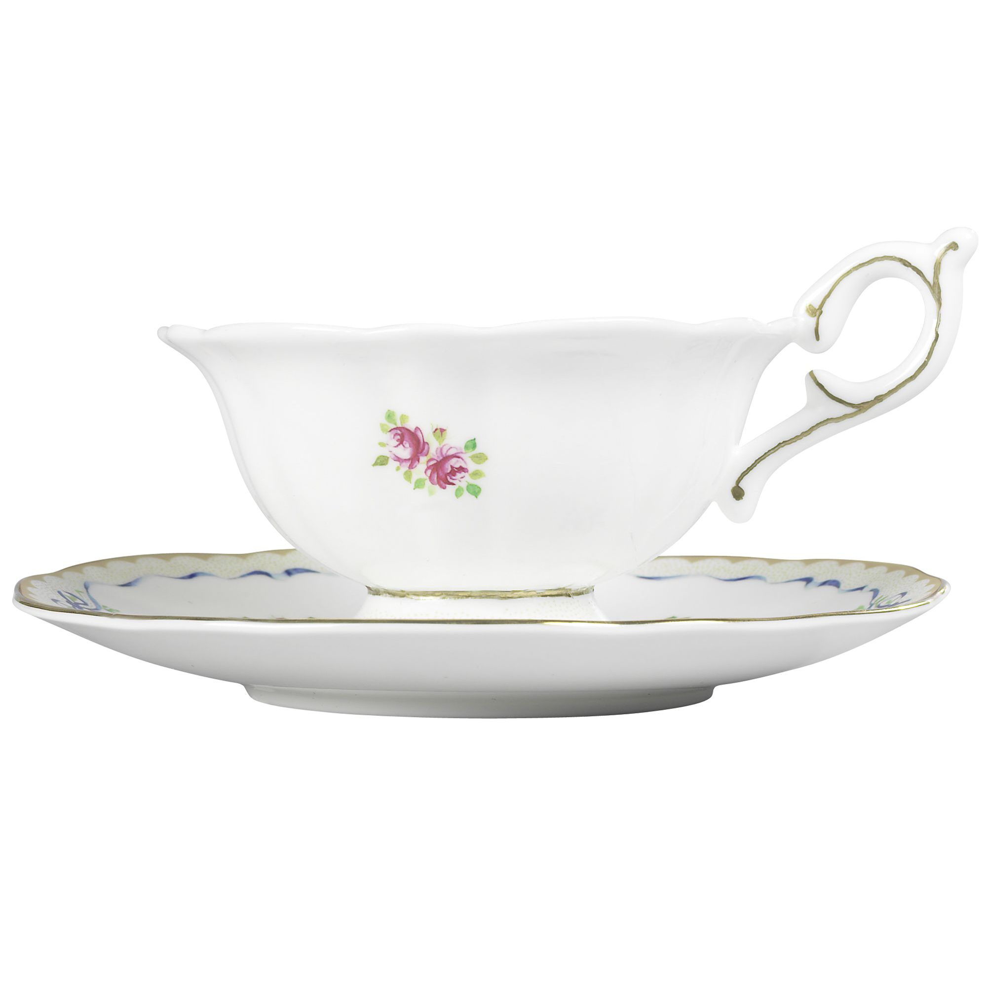 Ribbon & rose cup and saucer