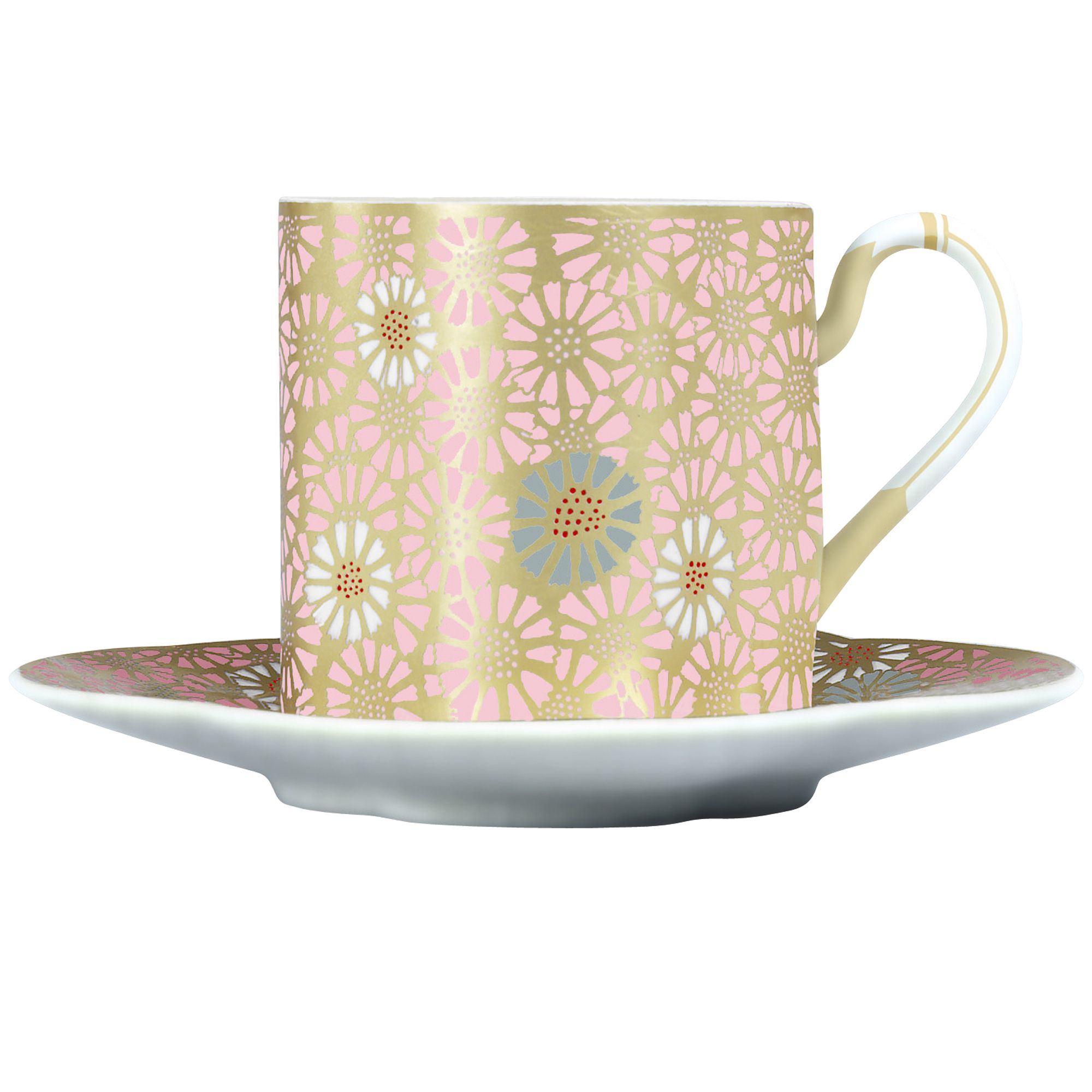 Daisy cup and saucer