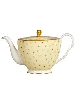 Polka dot teapot yellow