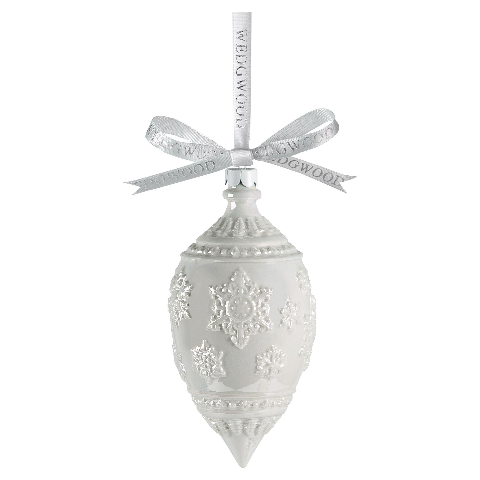 Wedgwood Lustre snowflake decoration