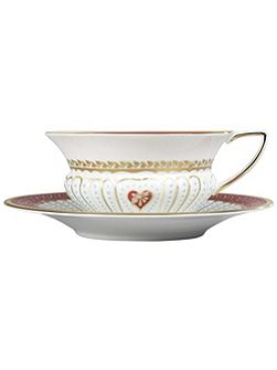 Queen of Hearts collection teacup&saucer set