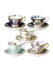 Royal Albert 1900 to 1940 celebratory 10 piece tea set
