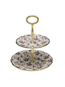Royal Albert 100 years of 1940 english chintz cake stand