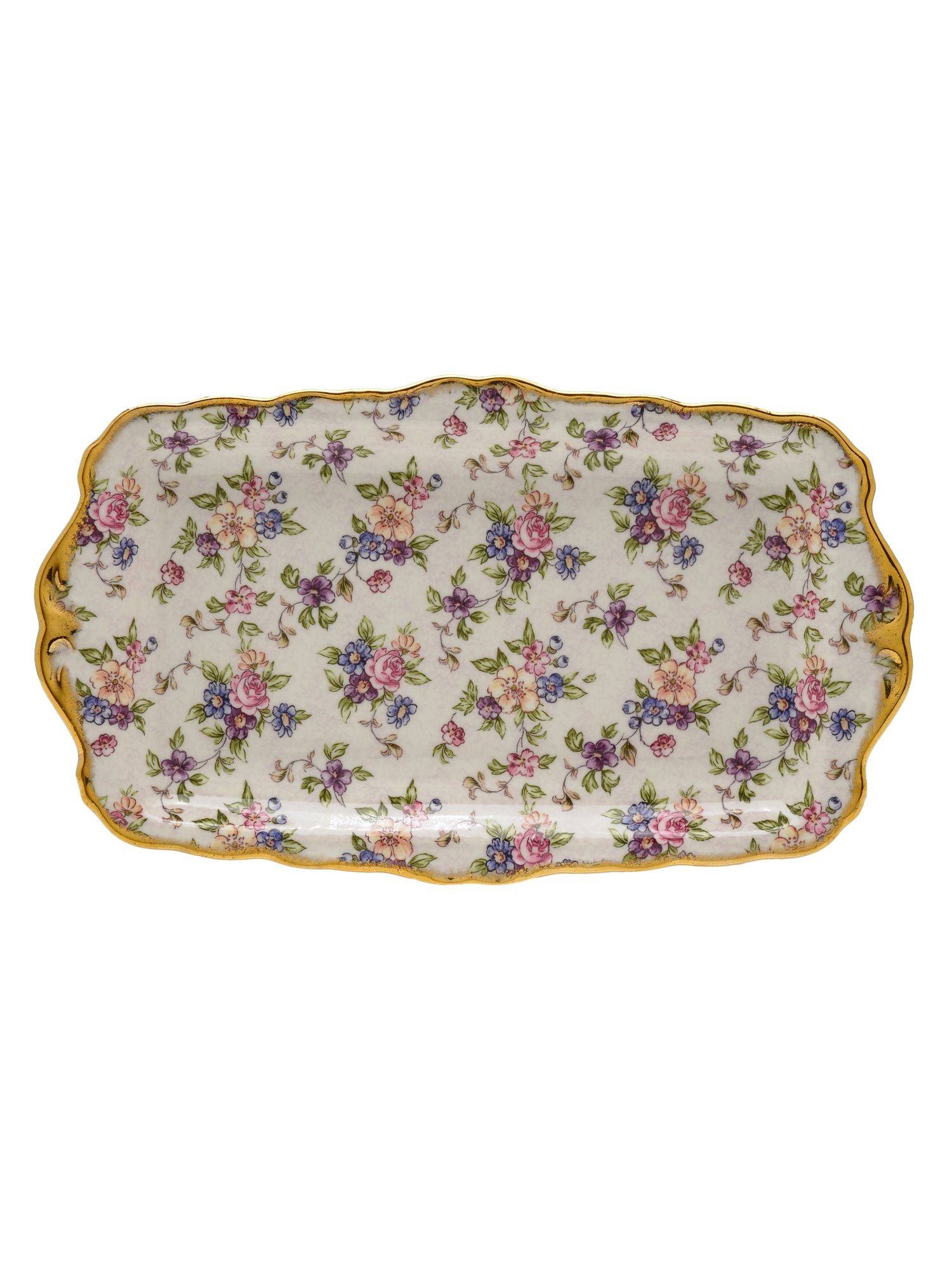 100 years of 1940 chintz sandwich tray