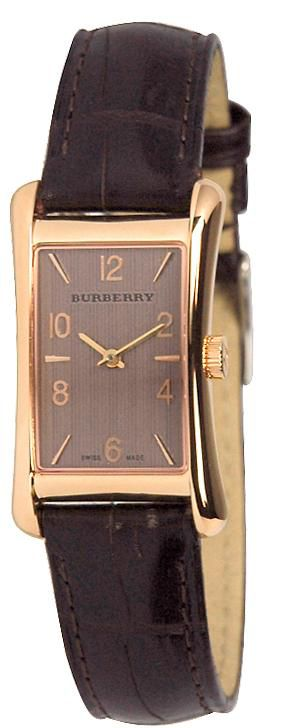 Contemporary leather strap watch