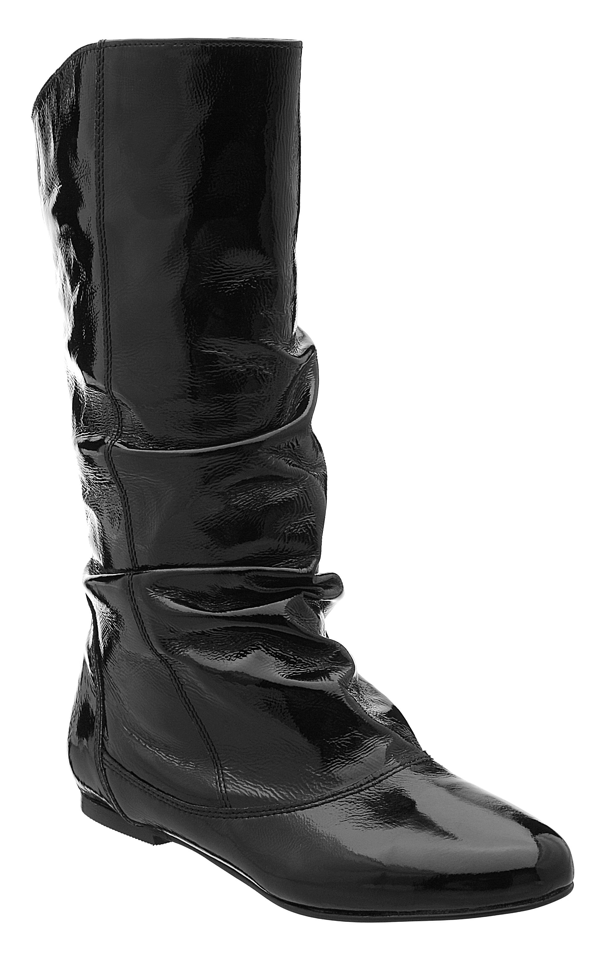 Dune Melissa slouch calf boots Black