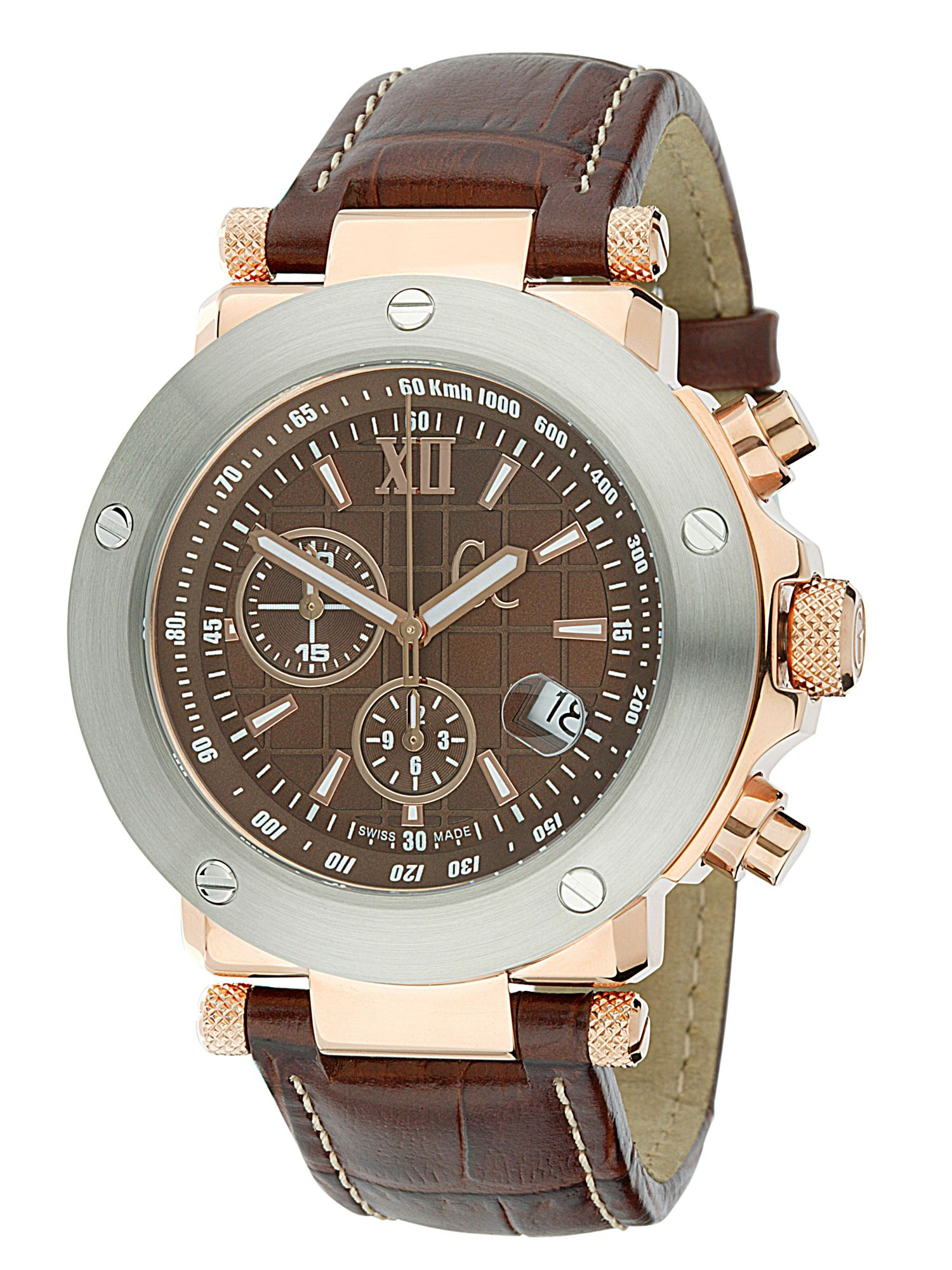 Gc Leather strap chronograph watch product image