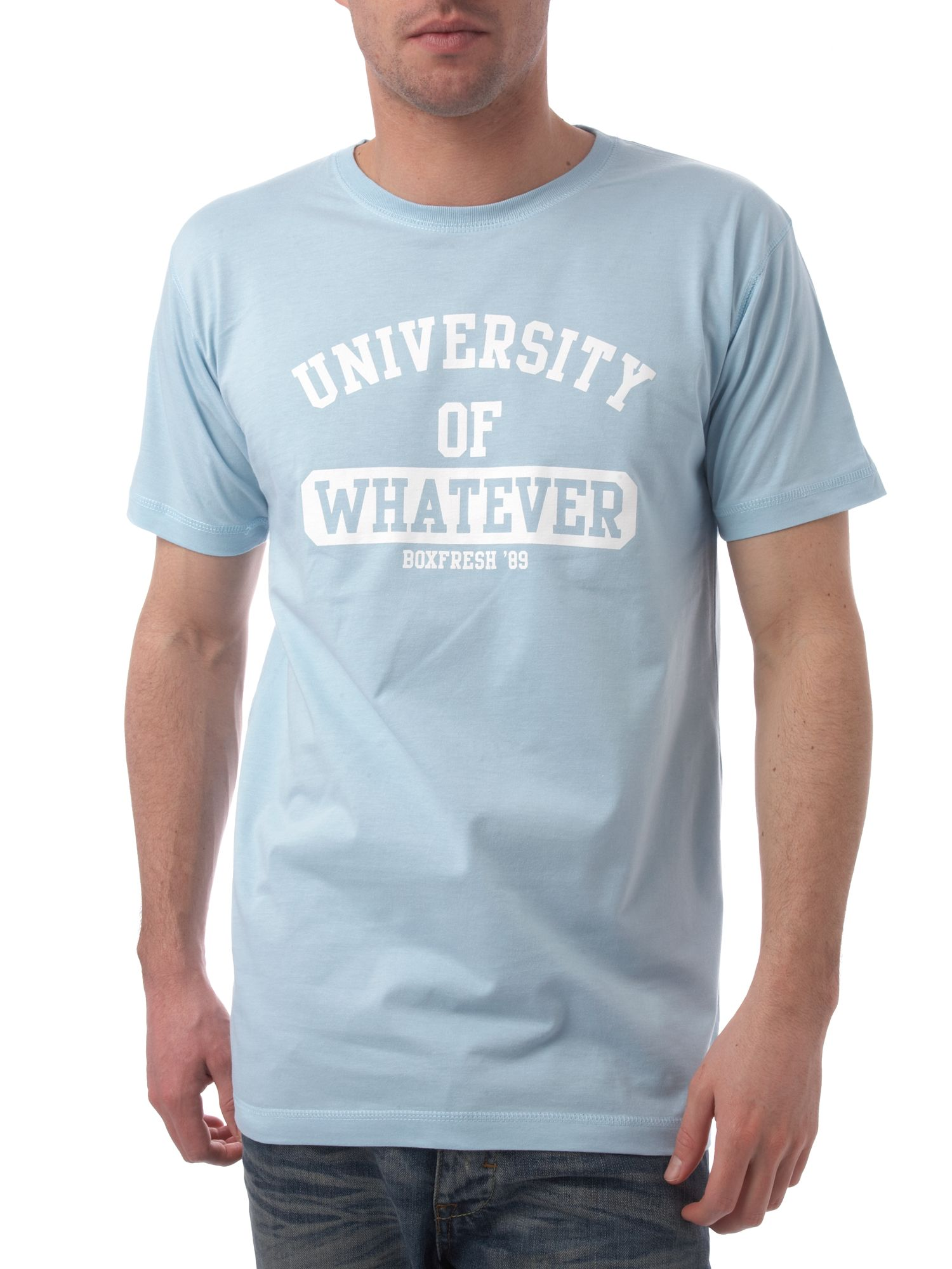 University of whatever printed T-shirt