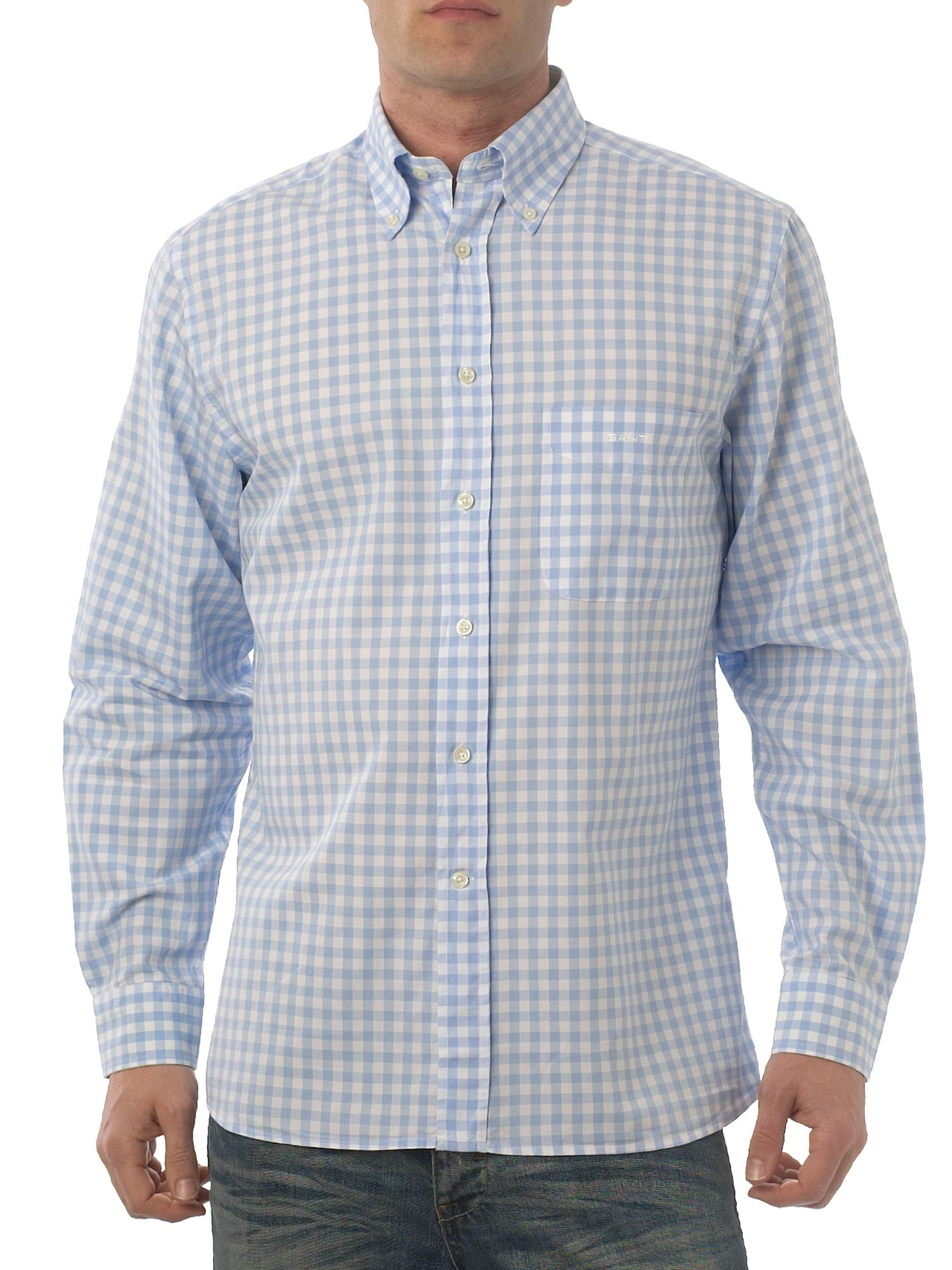 Long sleeved gingham shirt