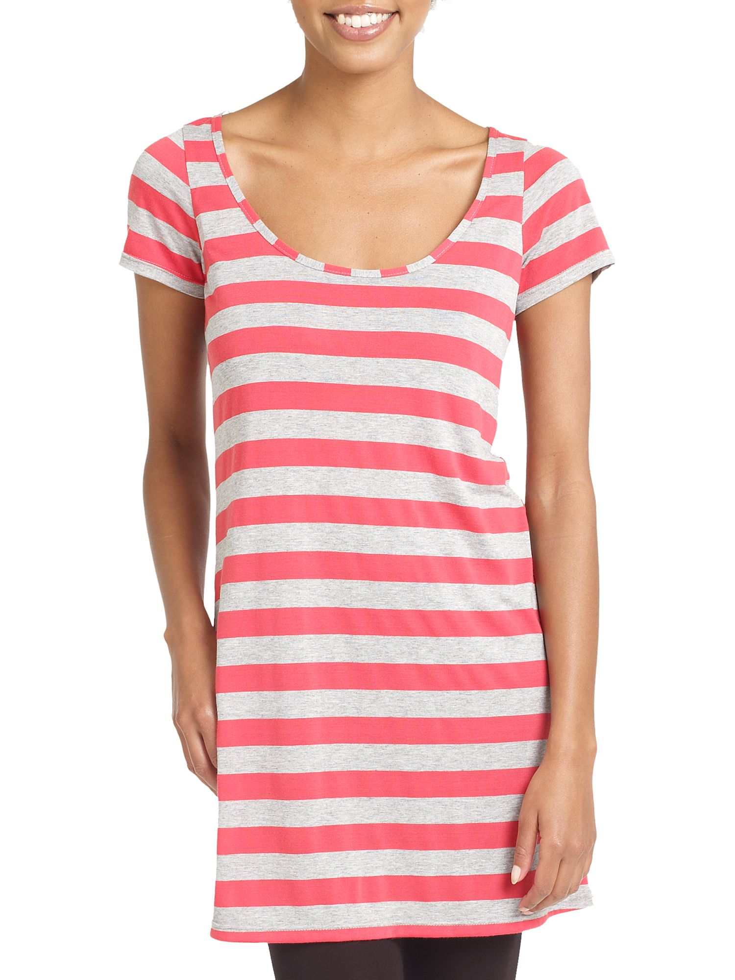 Therapy Stripe t-shirt dress Coral product image