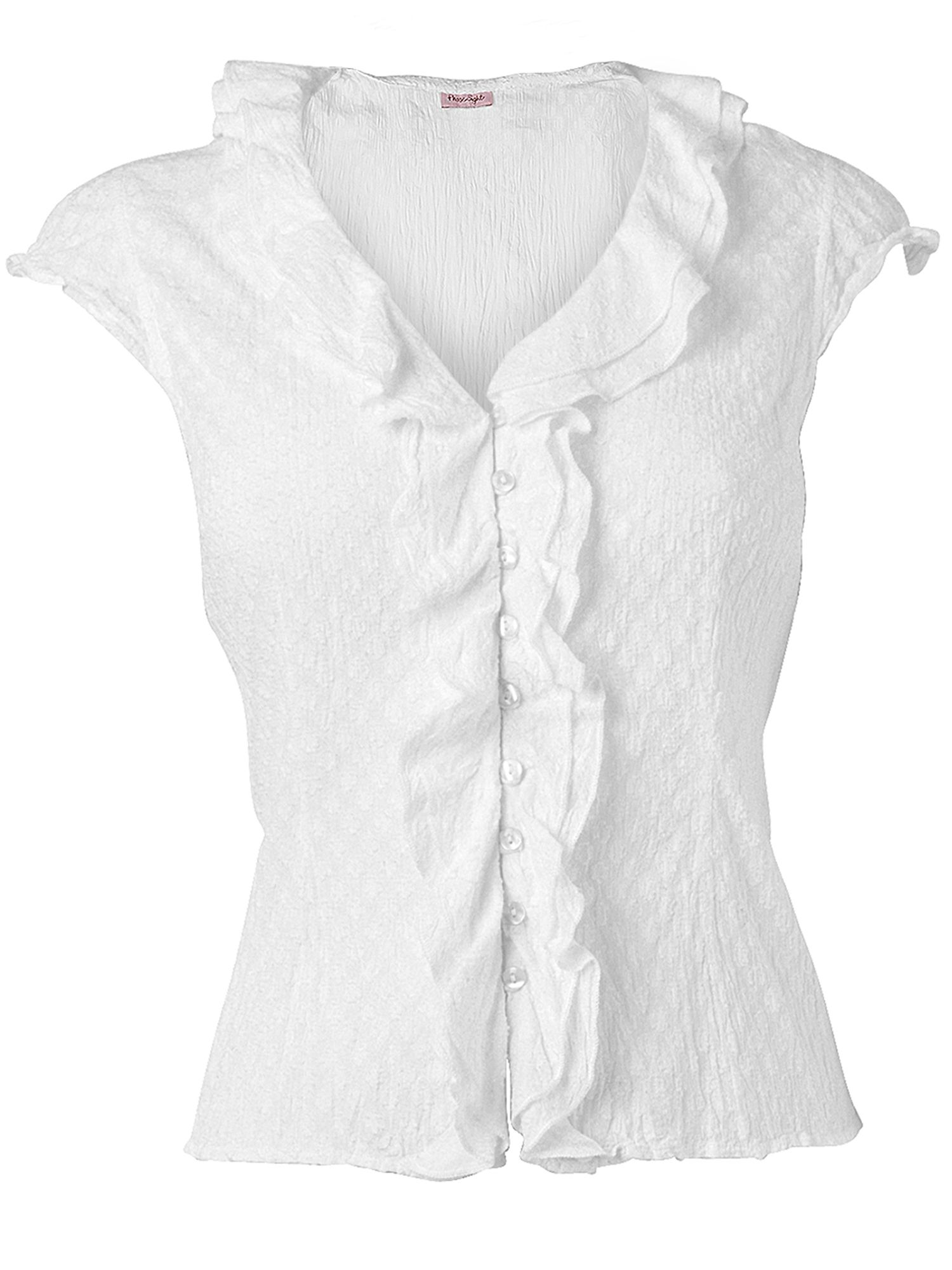 Phase Eight Cap sleeve ruffle blouse product image