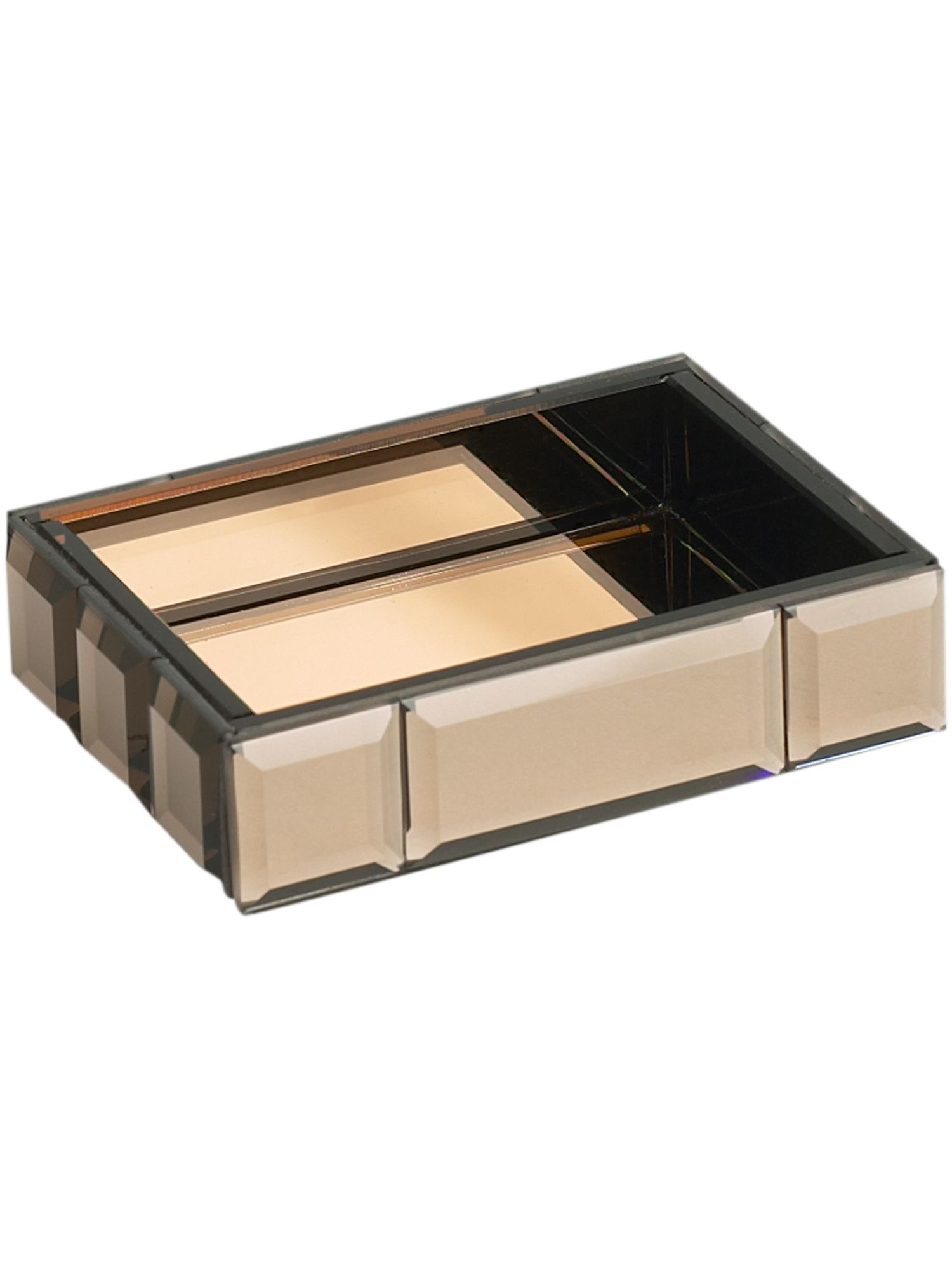 Brown mirrored soap dish 130444413