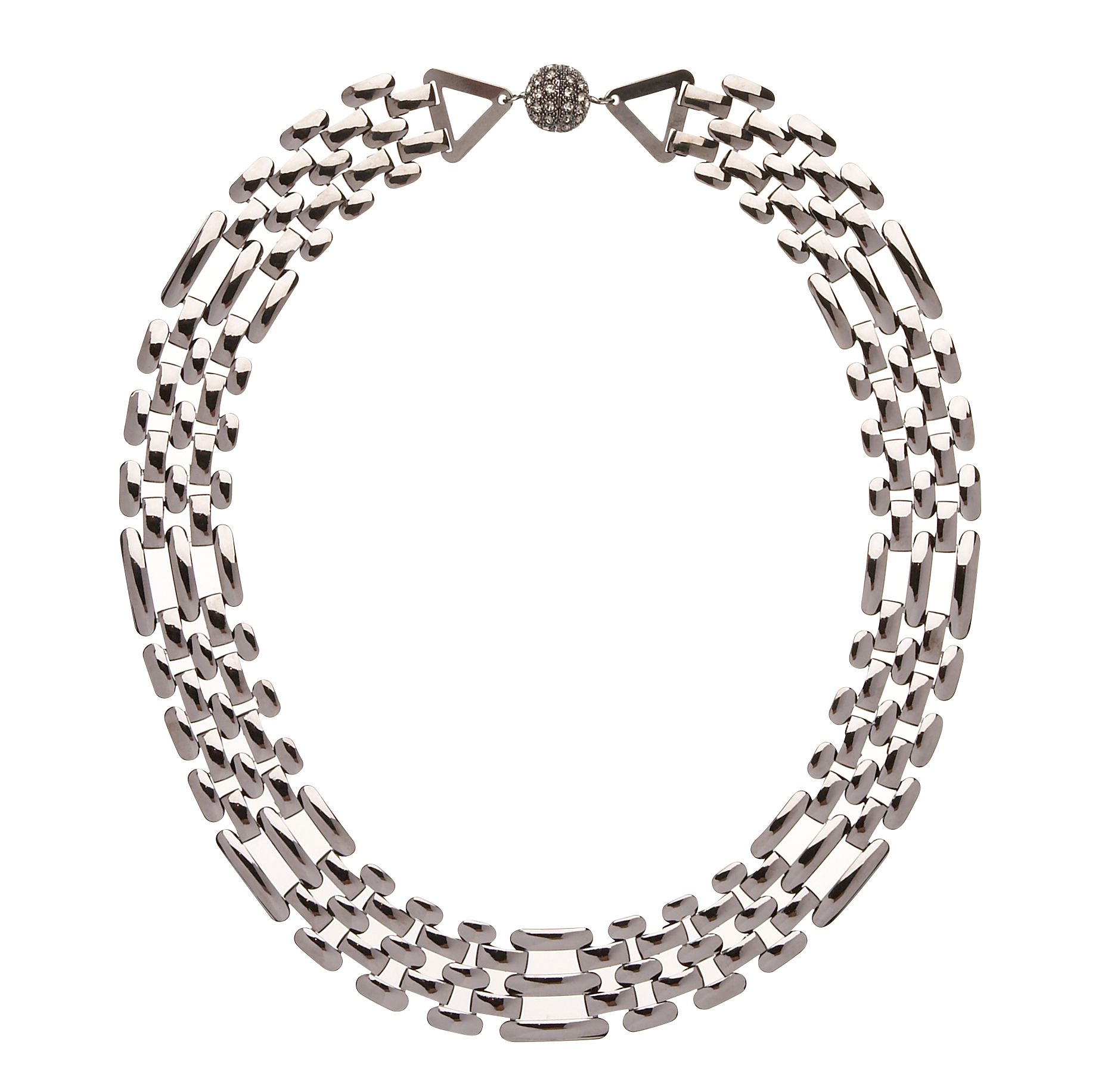 Modern speakeasy chain necklace