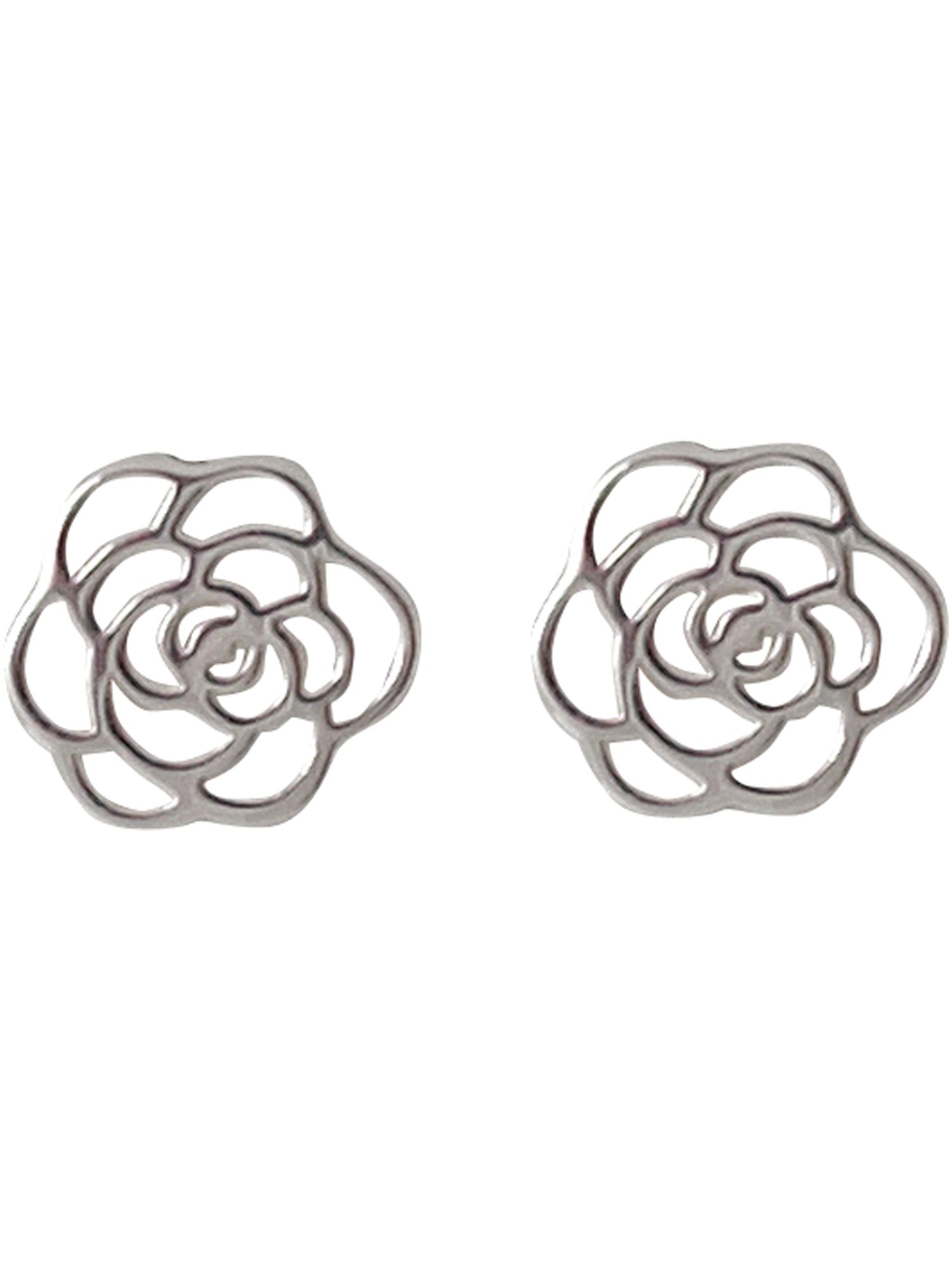 Paul Kennedy Sterling silver flower stud earrings product image