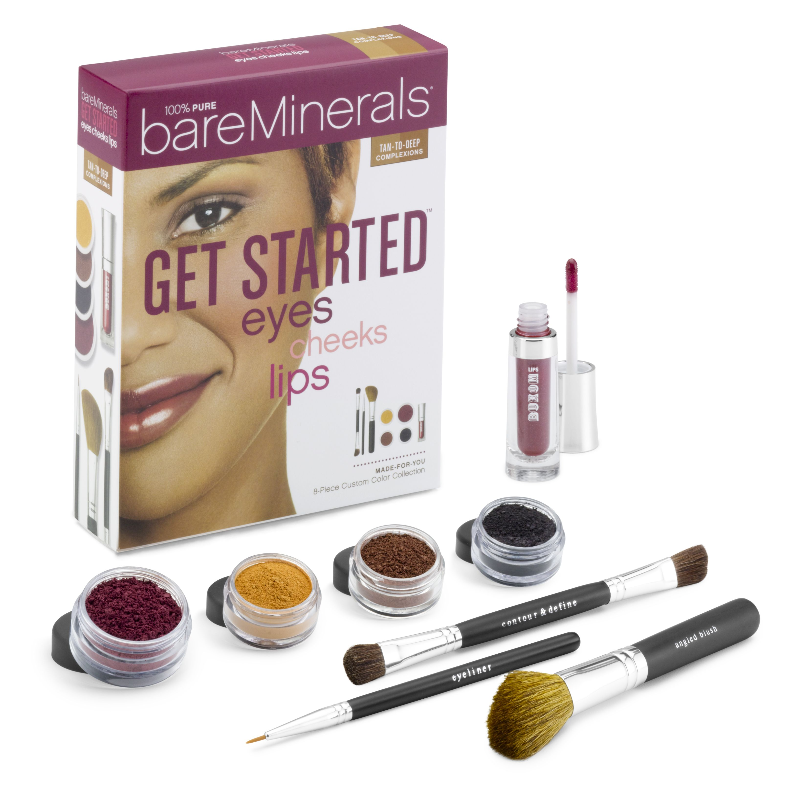 Get Started™ Eyes Cheeks Lips- Tan to Deep
