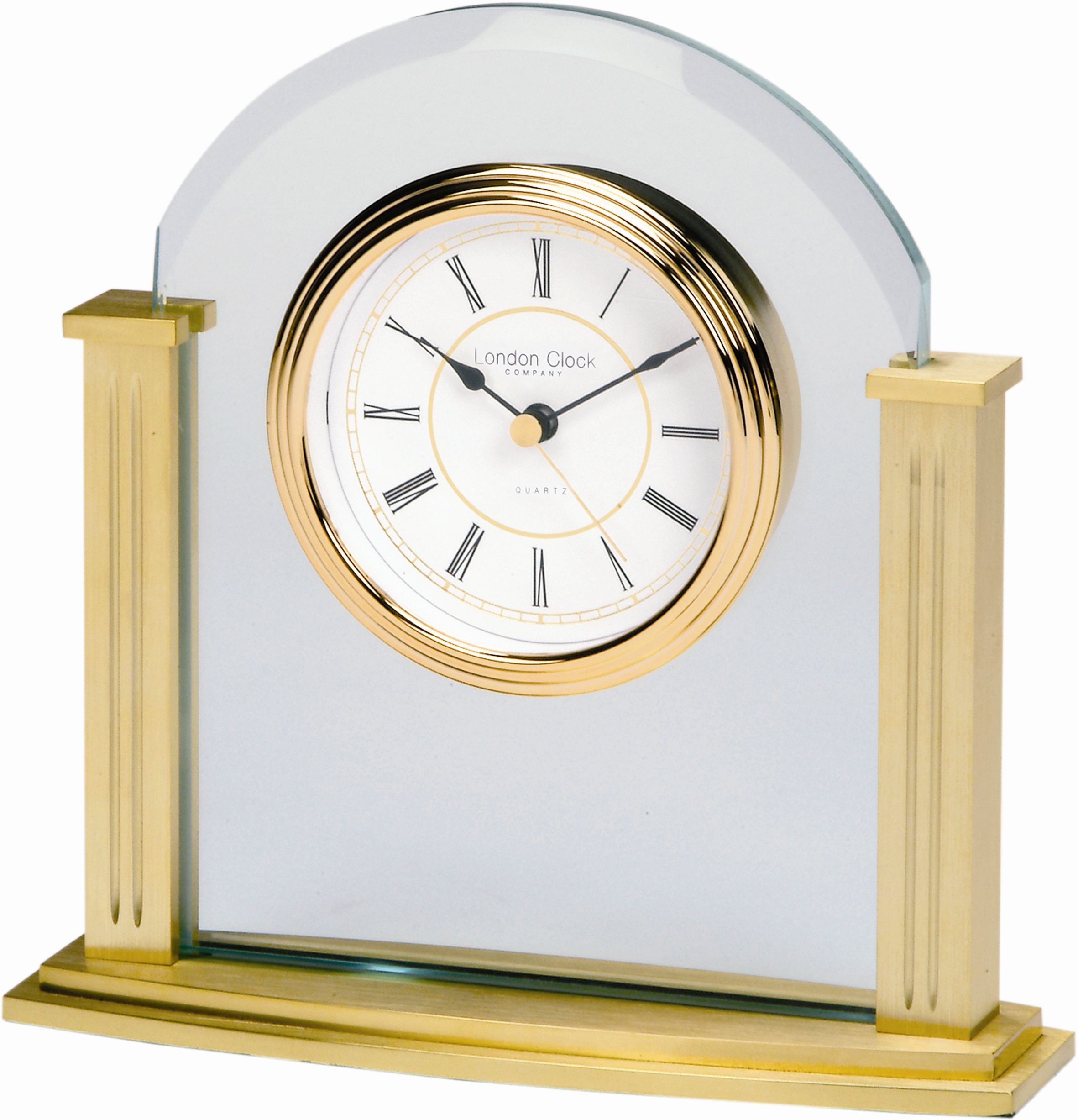 London Clock Traditional gold mantle clock
