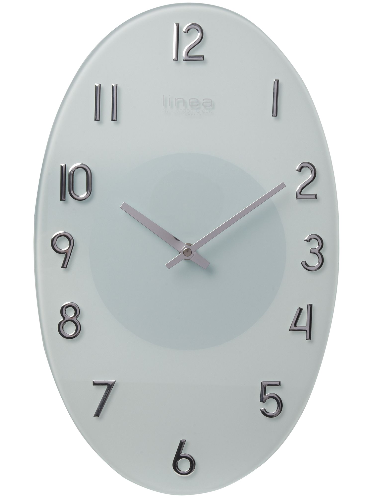 Linea White Raised Numbers Oval Glass Wall Clock Review
