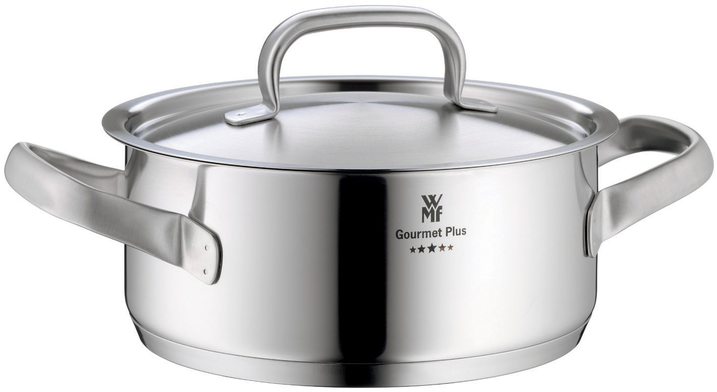 wmf gourmet plus low casserole with lid 24cm review compare prices buy online. Black Bedroom Furniture Sets. Home Design Ideas