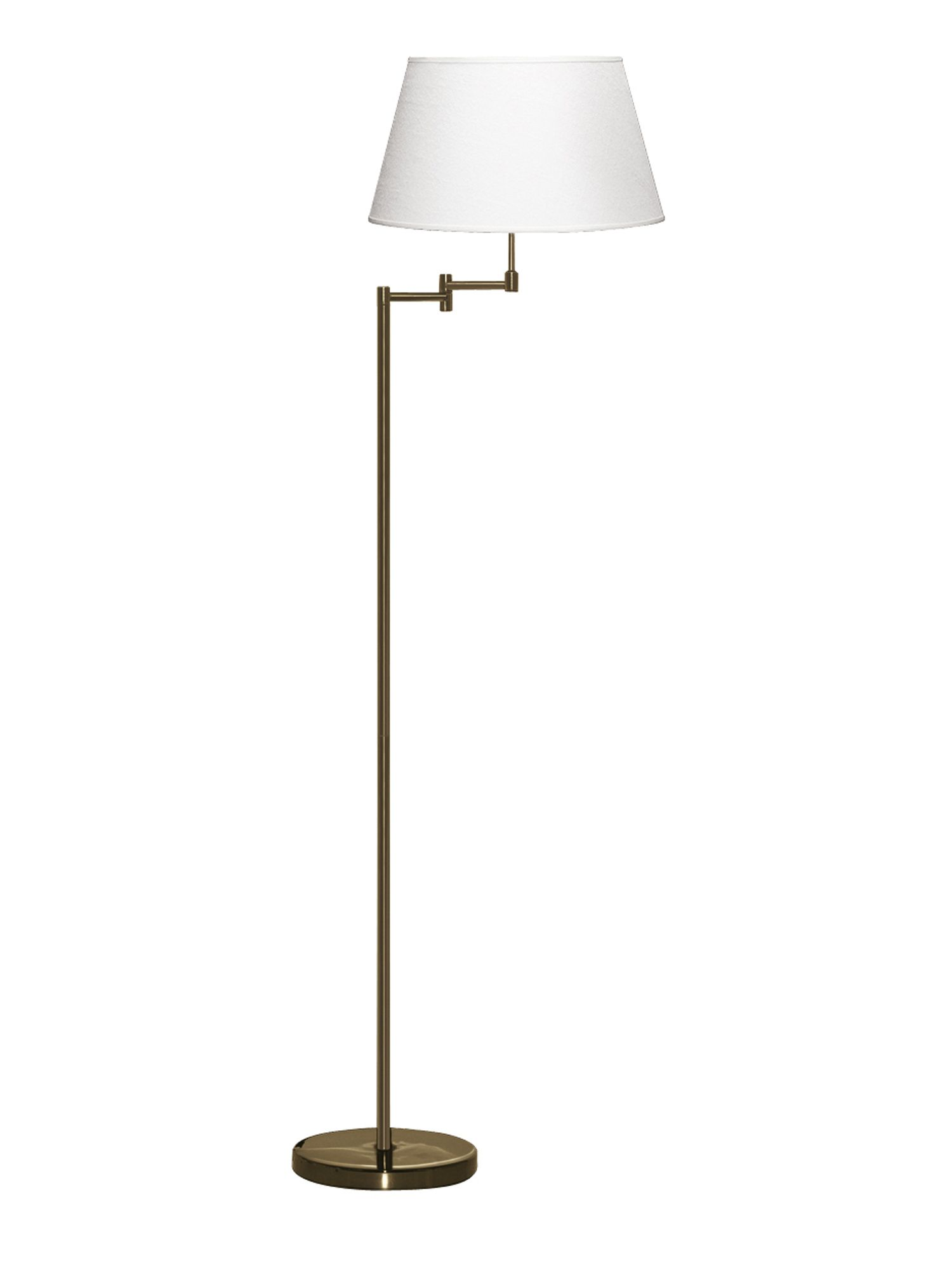House of Fraser Harrison swing arm floor lamp, antique brass