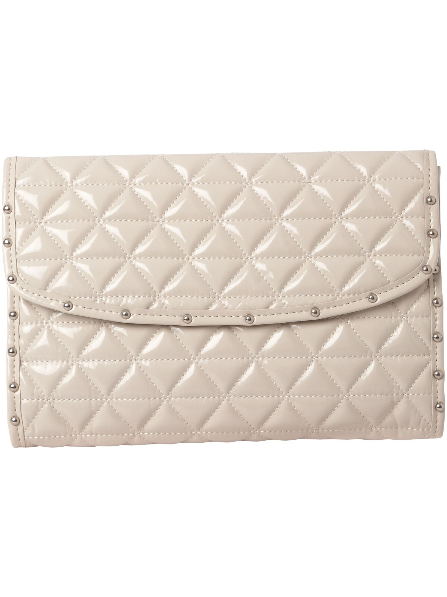 Linea Tracy Quilt Stud Flap Over small PU clutch bag product image