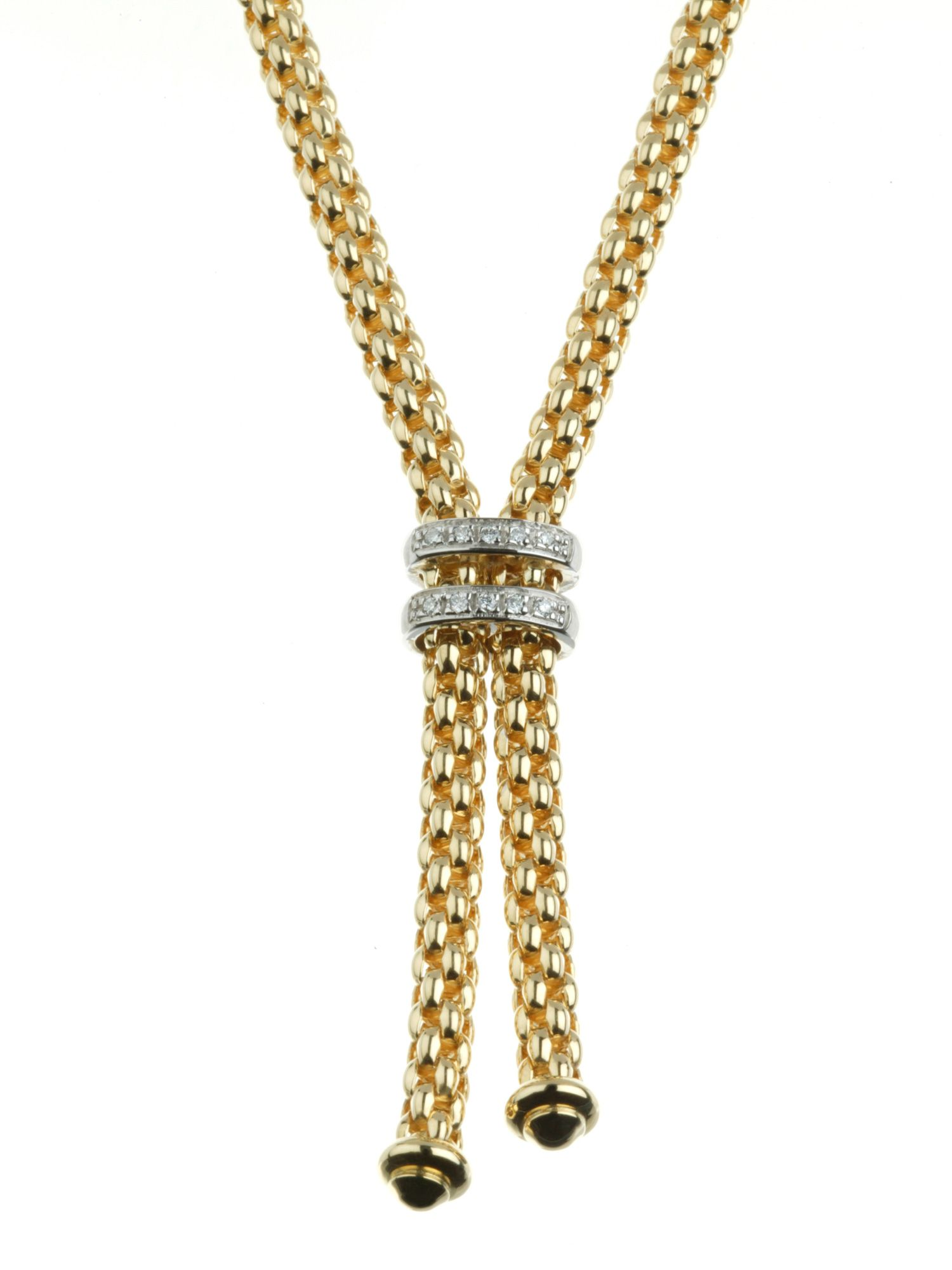 Fope 18ct gold diamond set necklace