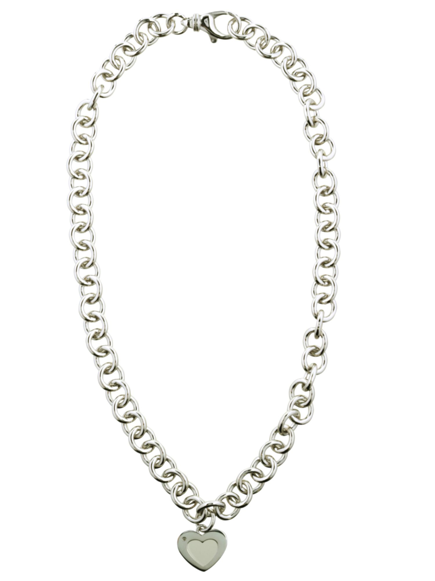 White Fire Diamonds White fire silver necklace
