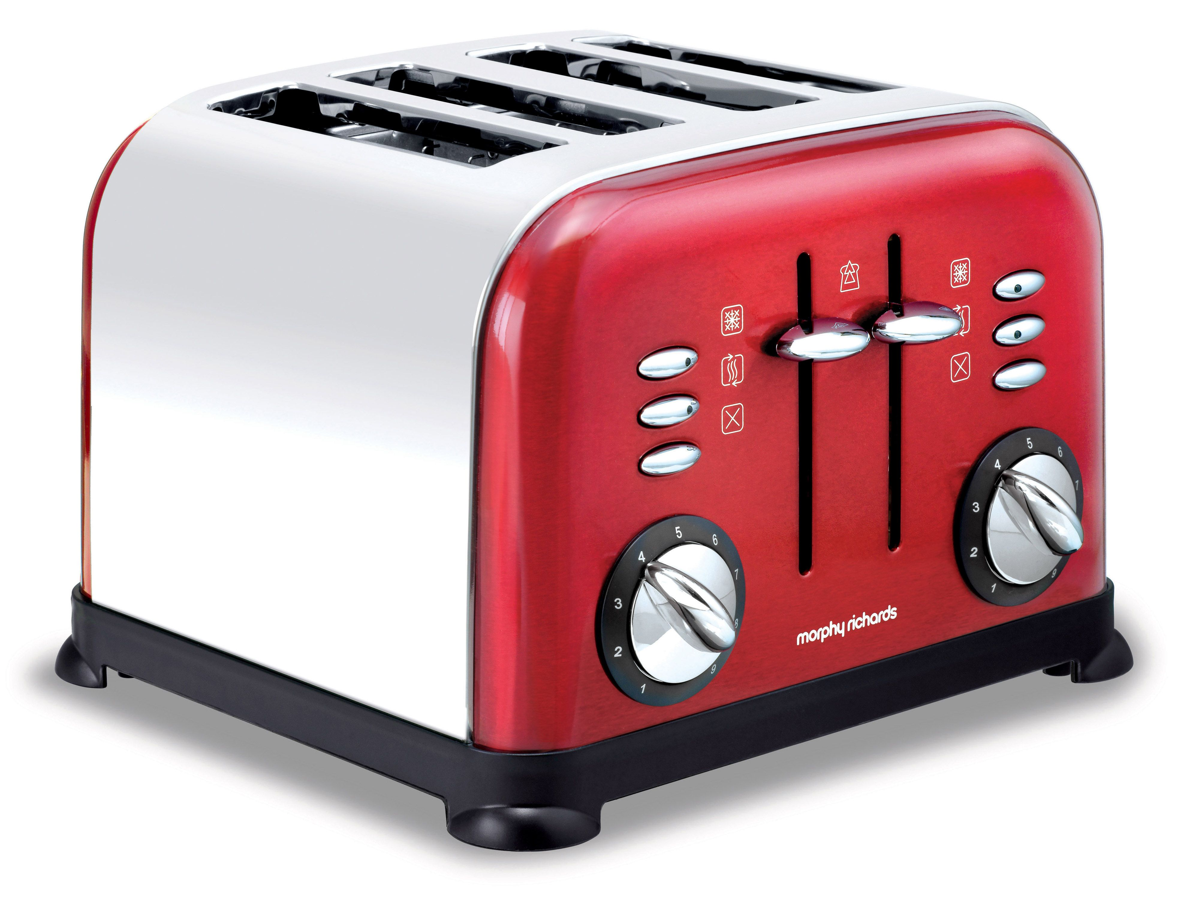Accents 44732 4 slice red toaster