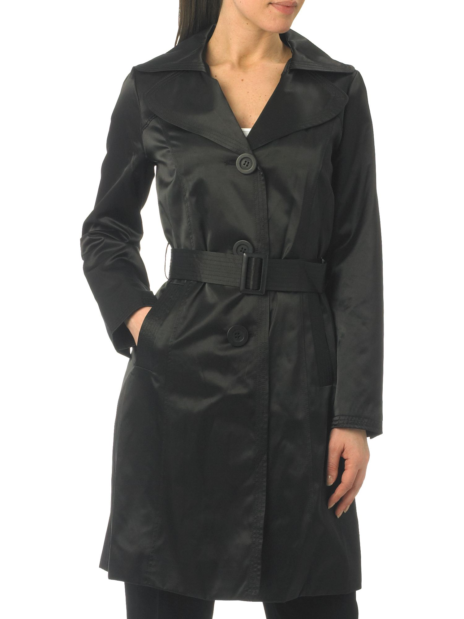 Linea Sateen oversize colla trench product image